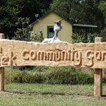carved cypress sign