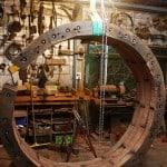 iron bark sleeper sculpture.
